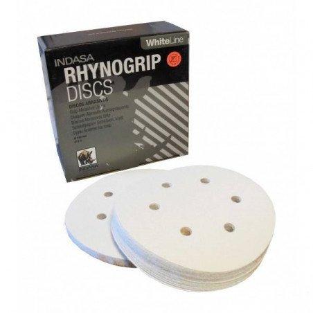 Krążek biały RHYNOGRIP na rzep Indasa 150mm 6otw. P280