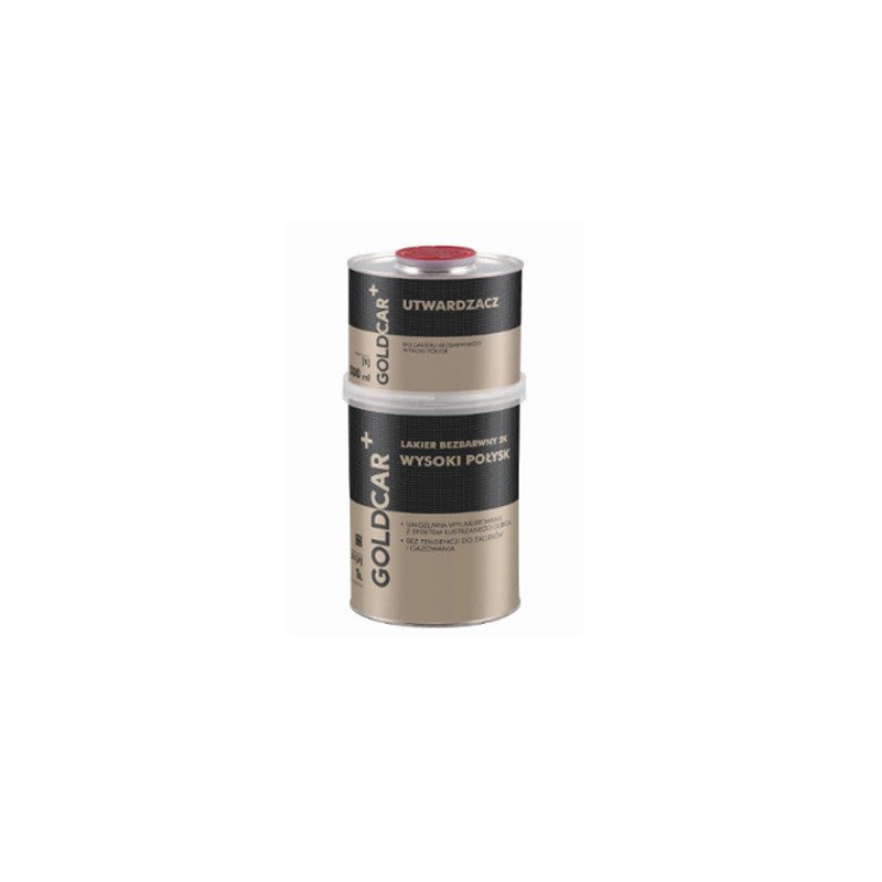 Lakier bezbarwny 2K wysoki połysk Goldcar 1,5l kpl