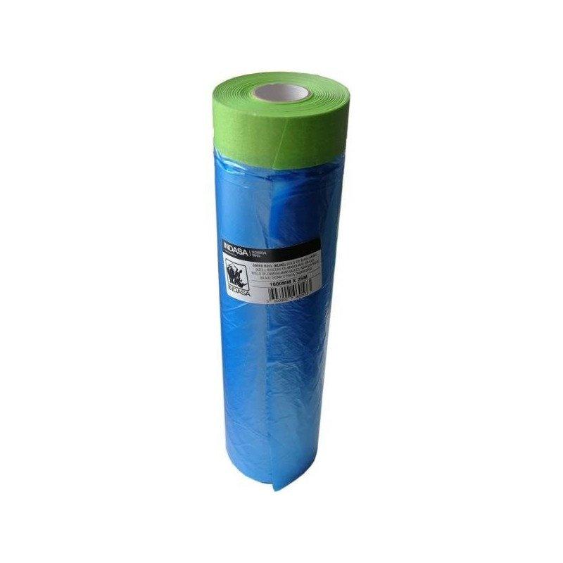 Folia maskująca z taśmą Indasa Cover Roll 180cm x 25m